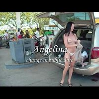 Angelina: changing in public dare