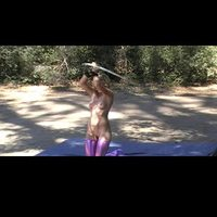 Hula Hoop Queen: nude hooping