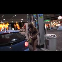 jessica: nude girl at petrol station