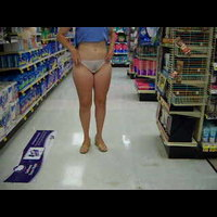 Jacque: panties off in the grocery store - 2