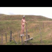 Anna: anna nude coastal walking